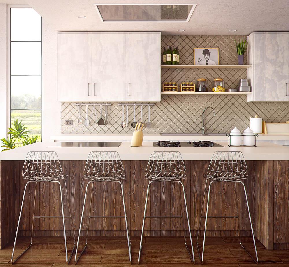 Asheville home kitchen backsplash